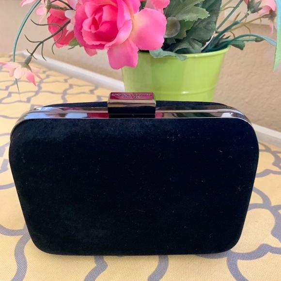 Giorgio Armani Bags   Parfums Black Suede Clutch   Poshmark 4e1f02d990